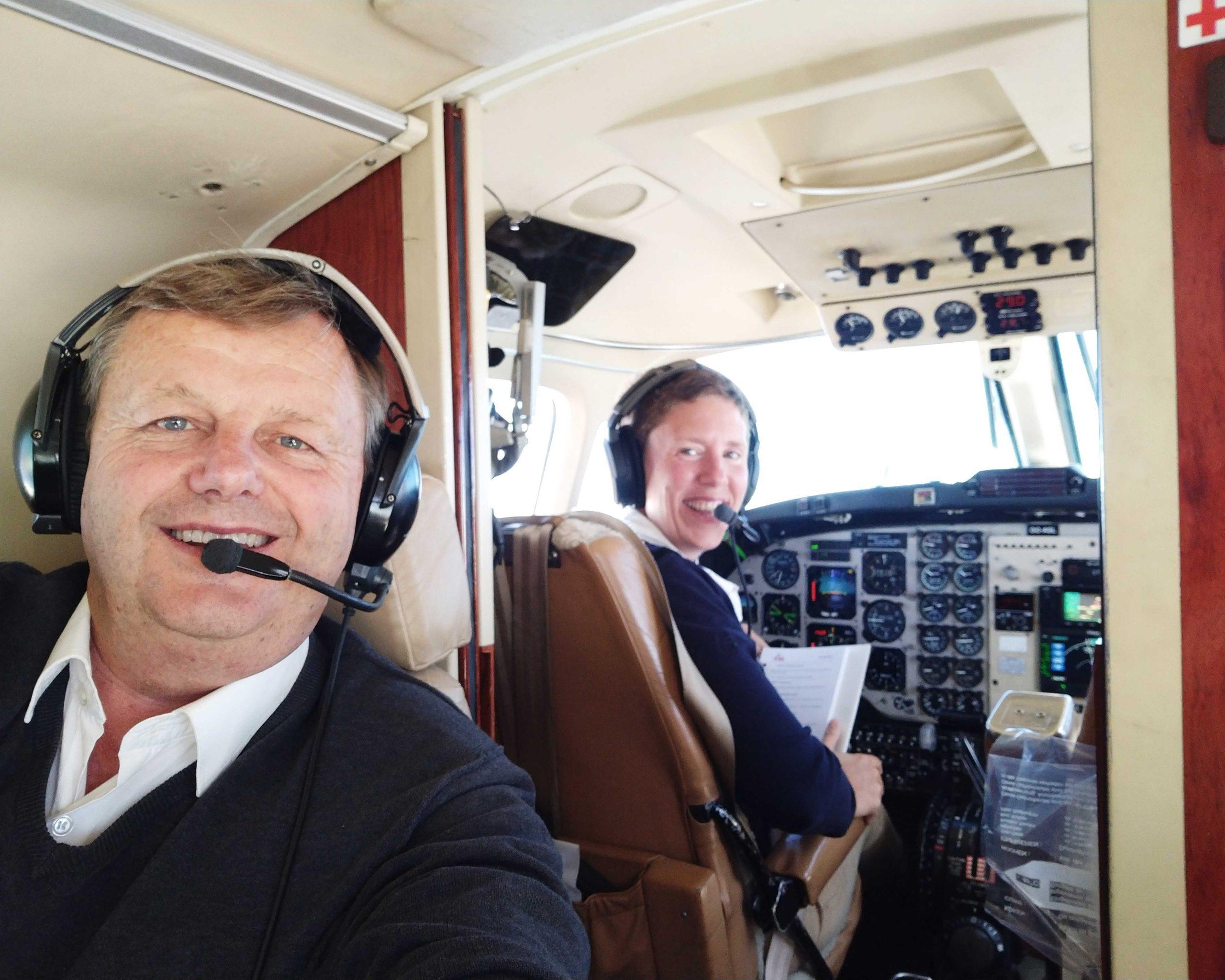piloot training in the air